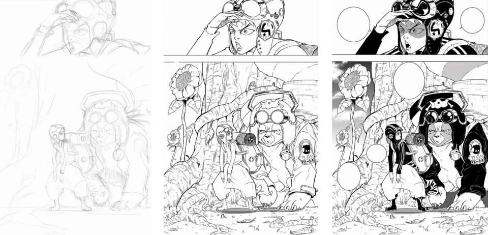 Planche du manga Redskin réalisée par le mangaka Staark-01