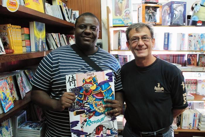 Le-mangaka-Staark-et-son-editeur-Jean-Luc Schneider